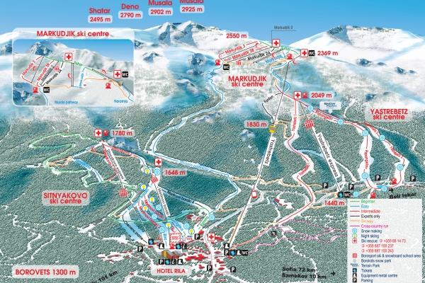 45 километра различни по трудност и дължина ски писти